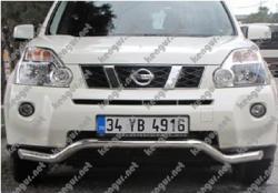 Акция!!! Защита заднего бампера Nissan X-Trail изогнутый ус