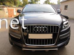 Решетка радиатора Audi Q7 стиль Audi SQ7 (черная с хромированной окантовкой)