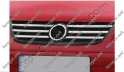 Накладки на решетку радиатора Volkswagen Touran (нерж.) 6 шт.