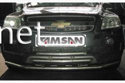 Защита переднего бампера - дуга тройная (Tamsan) Chevrolet Captiva 2006-2018