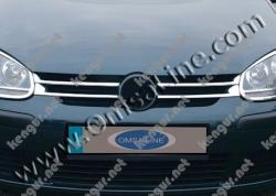 Накладки на решетку радиатора Volkswagen Golf V (нерж.) 4 шт.