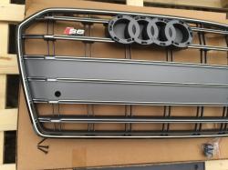 Решетка радиатора Audi A6 стиль S6 серая 2014-  4F0853651ALYNP 4G0853651T