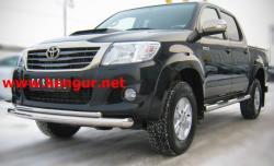 Защитная дуга переднего бампера Toyota Hilux (двойной ус)