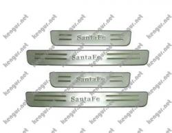 Накладки на пороги Hyundai Santa Fe