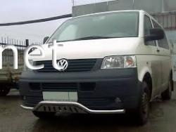 Защита переднего бампера - волна с пластиной (Tamsan) VW T5 2003-2015