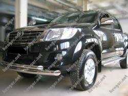 Защитная дуга по бамперу Toyota Hilux двойная