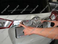 Хром планка над номером на Toyota Rav-4 (2013-...)