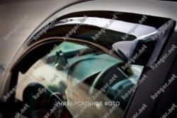 Дефлекторы окон (ветровики) Fiat Doblo (2010-...), на скотче