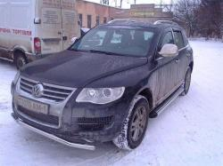 Защитная дуга по бамперу Volkswagen Touareg (2010 -...) одинарная