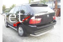 Пороги боковые (трубы B1) BMW X5 E53 1999-2006