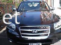 Накладки на решетку (Carmos) Hyundai Santa Fe 2006-…