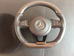 Руль карбоновый Mercedes Benz C Class W205 AMG Красная нитка