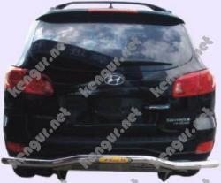 Защита заднего бампера (В-067) Hyundai Santa Fe 2006-...
