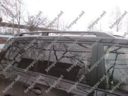 Рейлинги черные Toyota Land Cruiser 200 (метал. концевики)