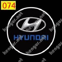 Лазерная подсветка дверей с логотипом Hyundai (№074)
