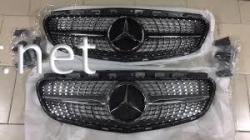 Решетка радиатора Diamond (chromе/black) Mercedes CLA W117 2013-2016