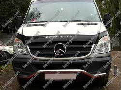 Защитная дуга по бамперу Mercedes Sprinter изогнутый ус