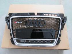 Решетка радиатора Audi A3 стиль RS3 2008-2011 Chrome Quattro