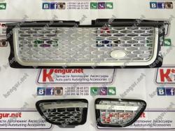 Решетка радиатора и жабры Range Rover Sport (2005-2009) LR019207 (LR019280/LR019283)