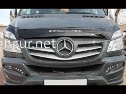 Дефлектор капота - мухобойка (VIP) Mercedes Sprinter 2013-…