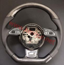 Руль карбоновый в стиле S-line на Audi A8 D4