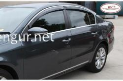 Ветровики c хром молдингом (HIC) VW Passat B6 2005-2011
