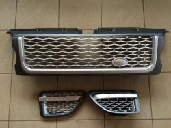 Решетка радиатора и жабры Range Rover Sport (2005-2009) Серая LR019206 (LR020795/LR020802)
