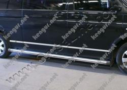 Молдинги на дверь длинная база Volkswagen Т6 (7 шт)