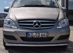 Защитная дуга по бамперу Mercedes-Benz W639 одинарная