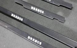 Карбоновые LED накладки на пороги стиль Brabus с подсветкой Mercedes-Benz G-Class W463