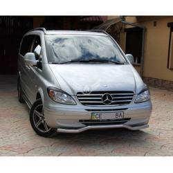 Защитная дуга по бамперу Mercedes-Benz W639 изогнутый ус