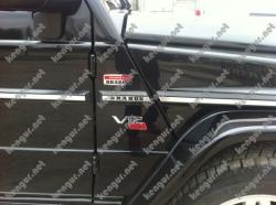 Вставки в молдинги Brabus Mercedes G-class W463 (метал)