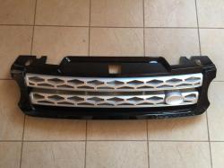 Решетка радиатора Range Rover Sport (2013-...) чёрная с серой сеткой LR054765