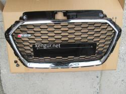 Решетка радиатора Audi A3 стиль RS3 хром окантовка черная сетка QUATTRO 2016-