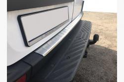 Накладка на задний бампер Volkswagen Crafter (нержавейка) 1 шт.