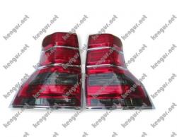Задние фонари (диодные, темные) на Toyota Land Cruiser Prado