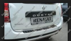 Хром накладка нижней кромки багажника широкая Renault Duster