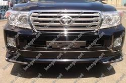 Докладка переднего бампера с диодной полоской Toyota Land Cruiser 200 (Модель 2013 г.) 52144D8030