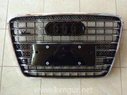 Решетка радиатора D-4 W12 (без Night Vision) на Audi A8 2011-2014 4H0 853 651
