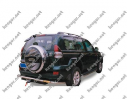 Защитная дуга заднего бампера Toyota Prado120 #372146
