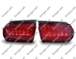 Задние противотуманки Toyota Land Cruiser Prado 150 (диодные) красные