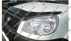 Дефлектор капота - мухобойка (Fly) Fiat Doblo 2005-2010