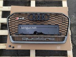 Решетка радиатора A6 стиль RS6 хром окантовка черная решетка QUATTRO 2014-
