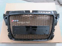 Решетка радиатора Audi A3 стиль RS3 2008 - 2011 all black no logo