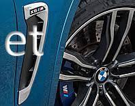 Жабры в крылья (хром) BMW X6 F16 2014-2018