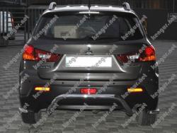Защита заднего бампера Mitsubishi ASX U-образная