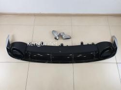 Диффузор заднего бампера Audi A7 2016-2017, стиль RS7 (под обычный бампер)