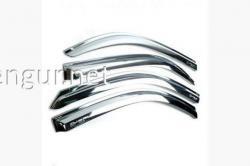 Дефлекторы окон (ветровики) хромированные Chevrolet Aveo 2002-2008