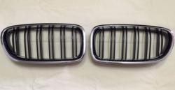 Решетка (ноздри) BMW F10 / F11 стиль М5 (хром рамка) 51137203649, 51137203650