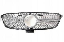 Решетка радиатора Diamond silver (с местом под камеру) Mercedes GLE-Coupe C292 2015-...